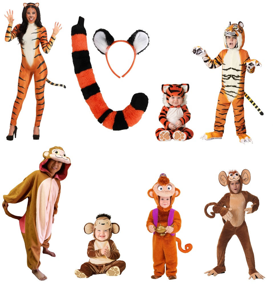 Rajah and Abu Costumes