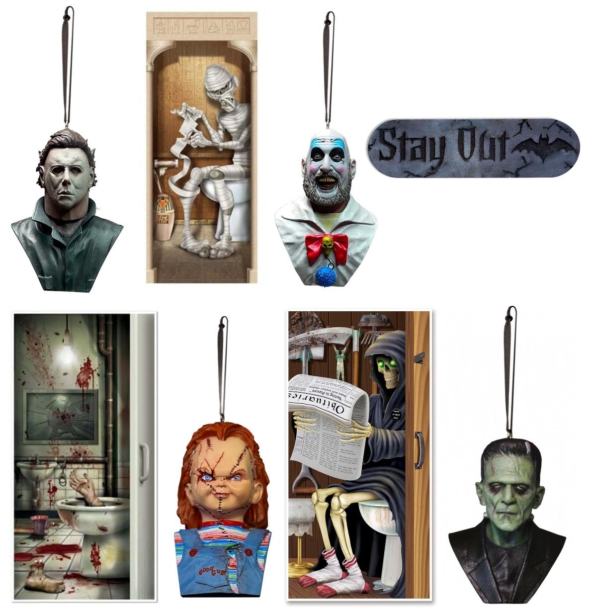 Halloween Ornaments and Indoor Door Decorations