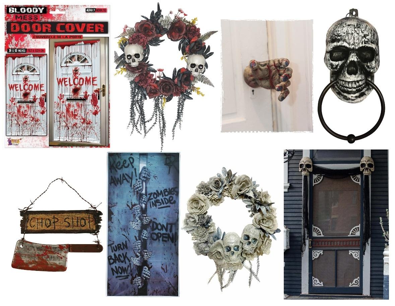 Outdoor Halloween Door Decorations