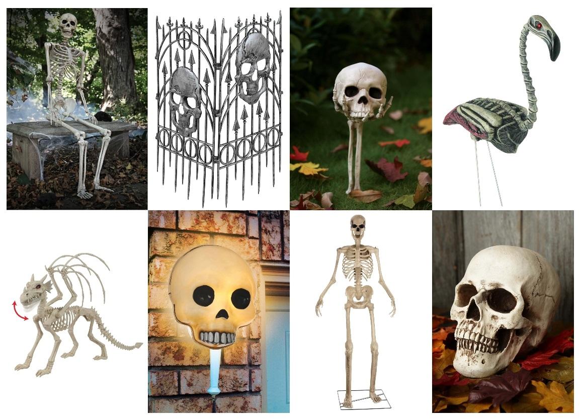Outdoor Skeleton Decorations