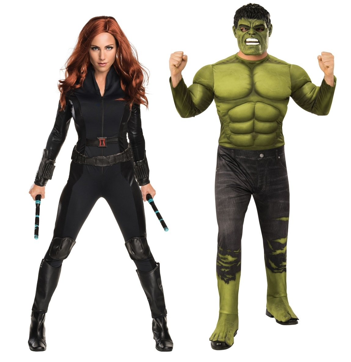 Black Widow and Hulk Couples Costumes