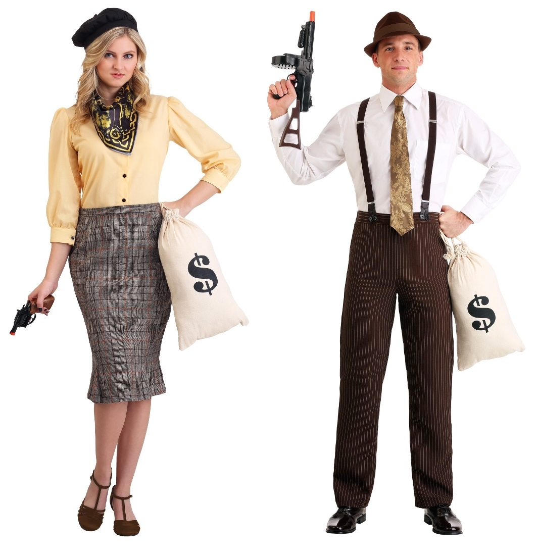 Clyde and Bonnie Couples Costumes