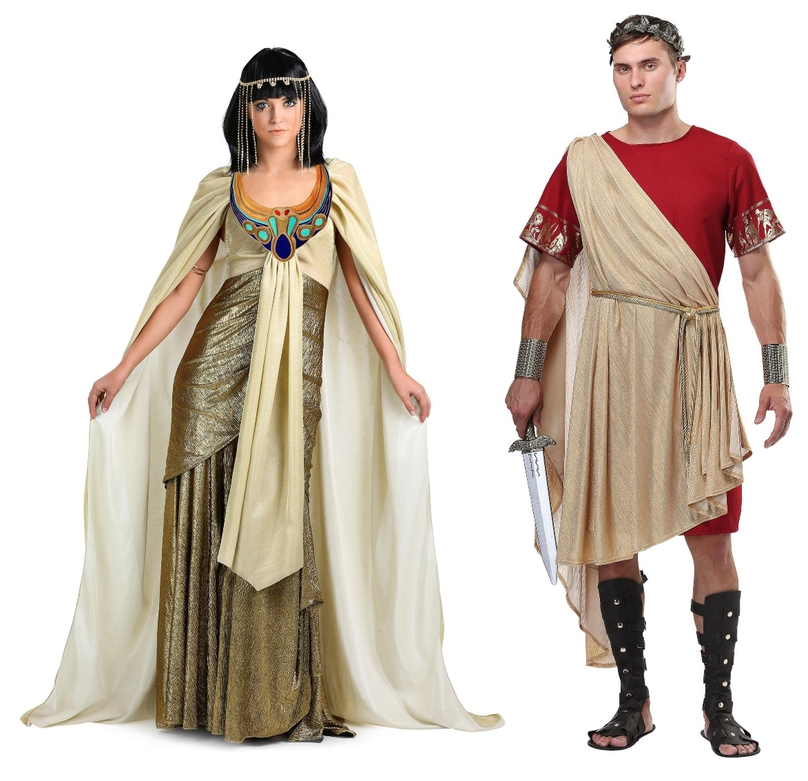 Caesar and Cleopatra Couples Halloween Costumes