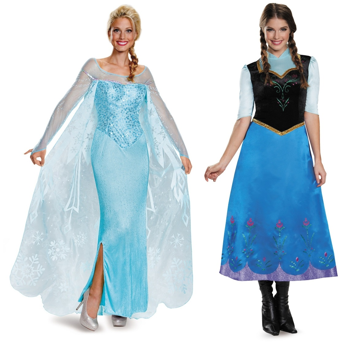 Elsa and Anna Couples Costumes