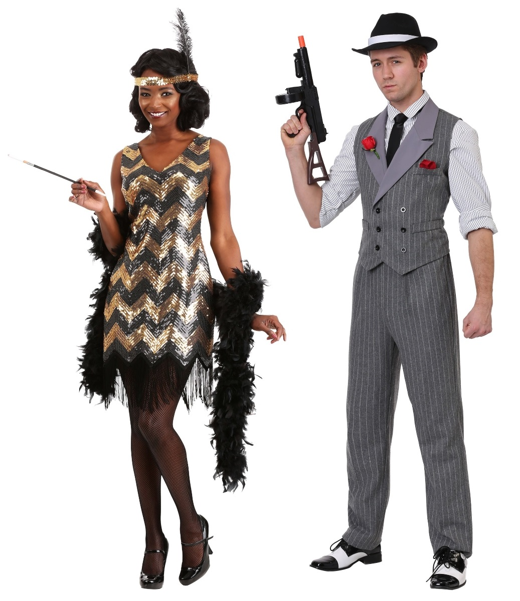 Gangster and Flapper Couples Costumes