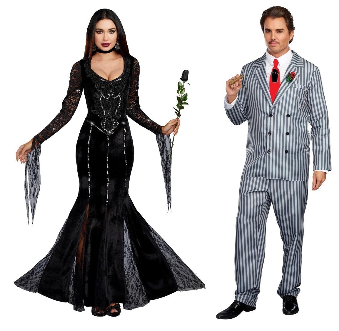 Morticia and Gomez Addams Couples Costumes