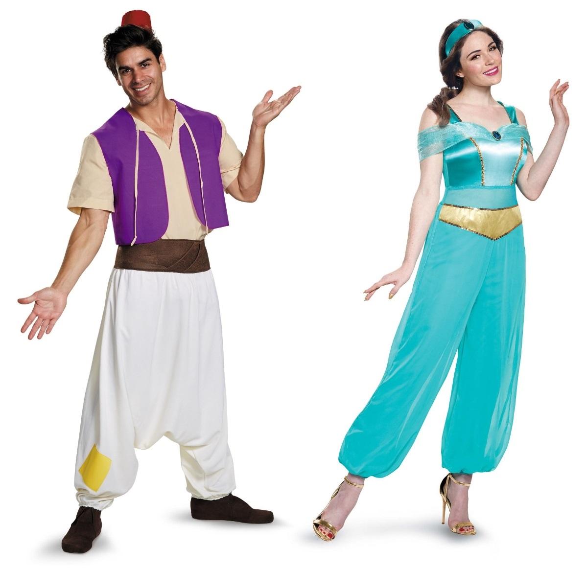 Aladdin and Jasmine Couples Costumes
