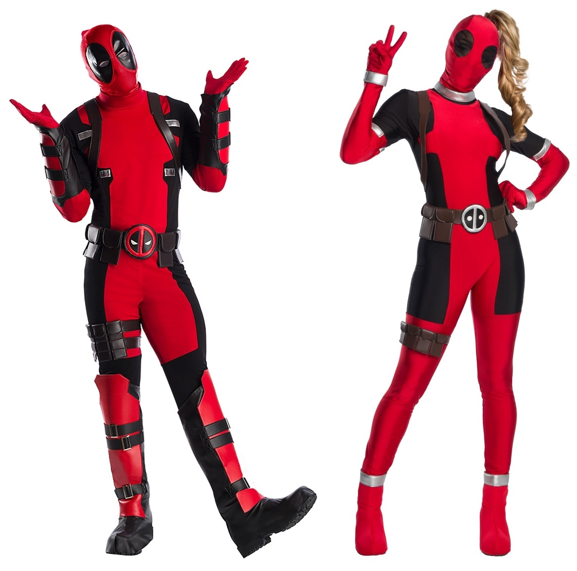Deadpool and Lady Deadpool Couples Costumes