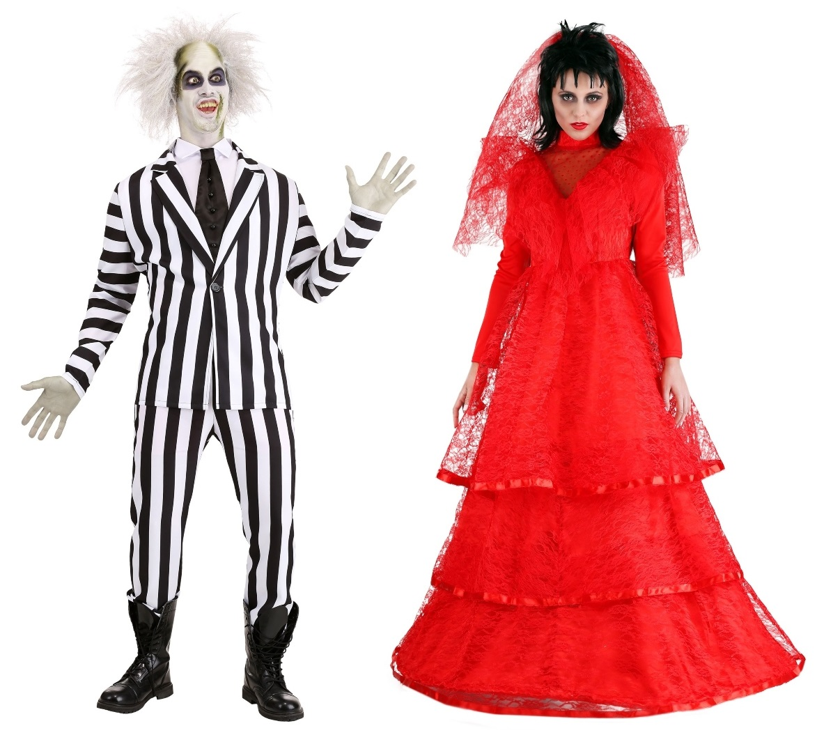 Lydia and Beetlejuice Couples Costumes