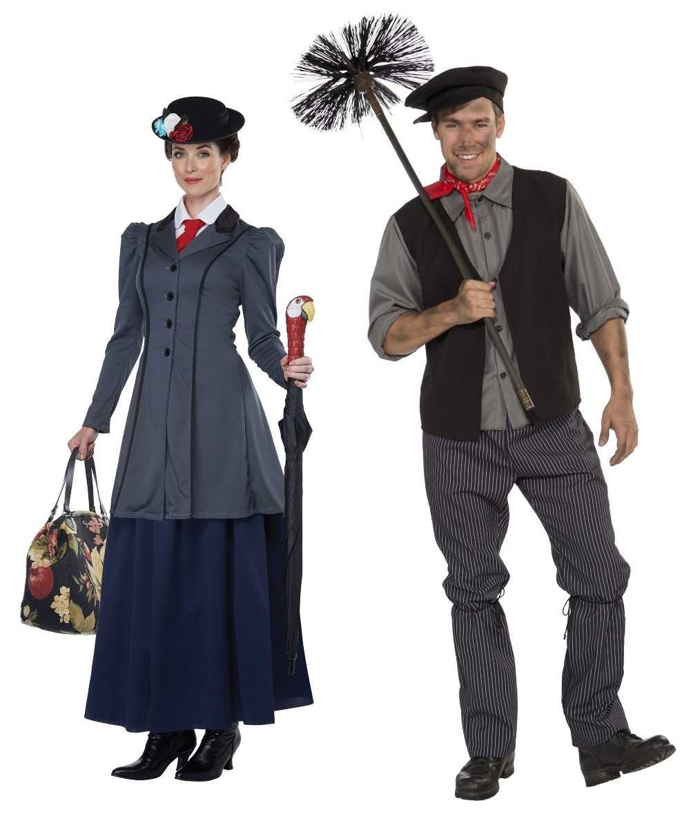 Bert and Mary Poppins Couples Costumes