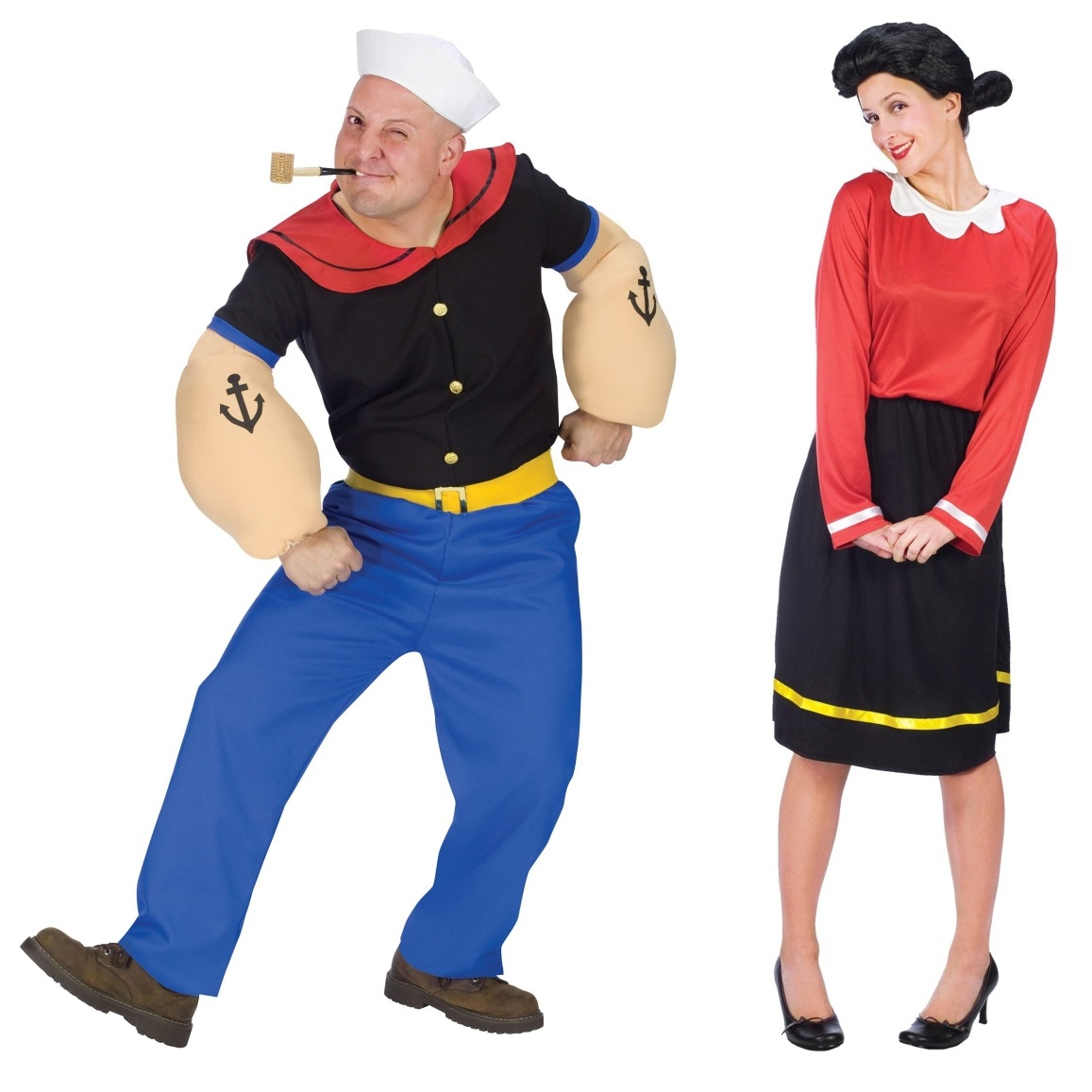 Olive Oyl and Popeye Couples Costumes