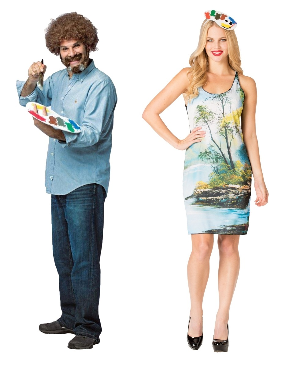Painting and Bob Ross Couples Costumes
