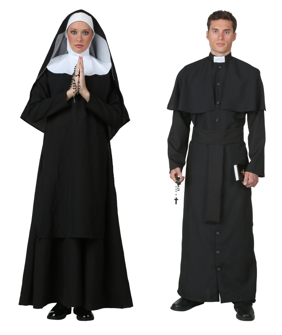 Nun and Priest Couples Costumes