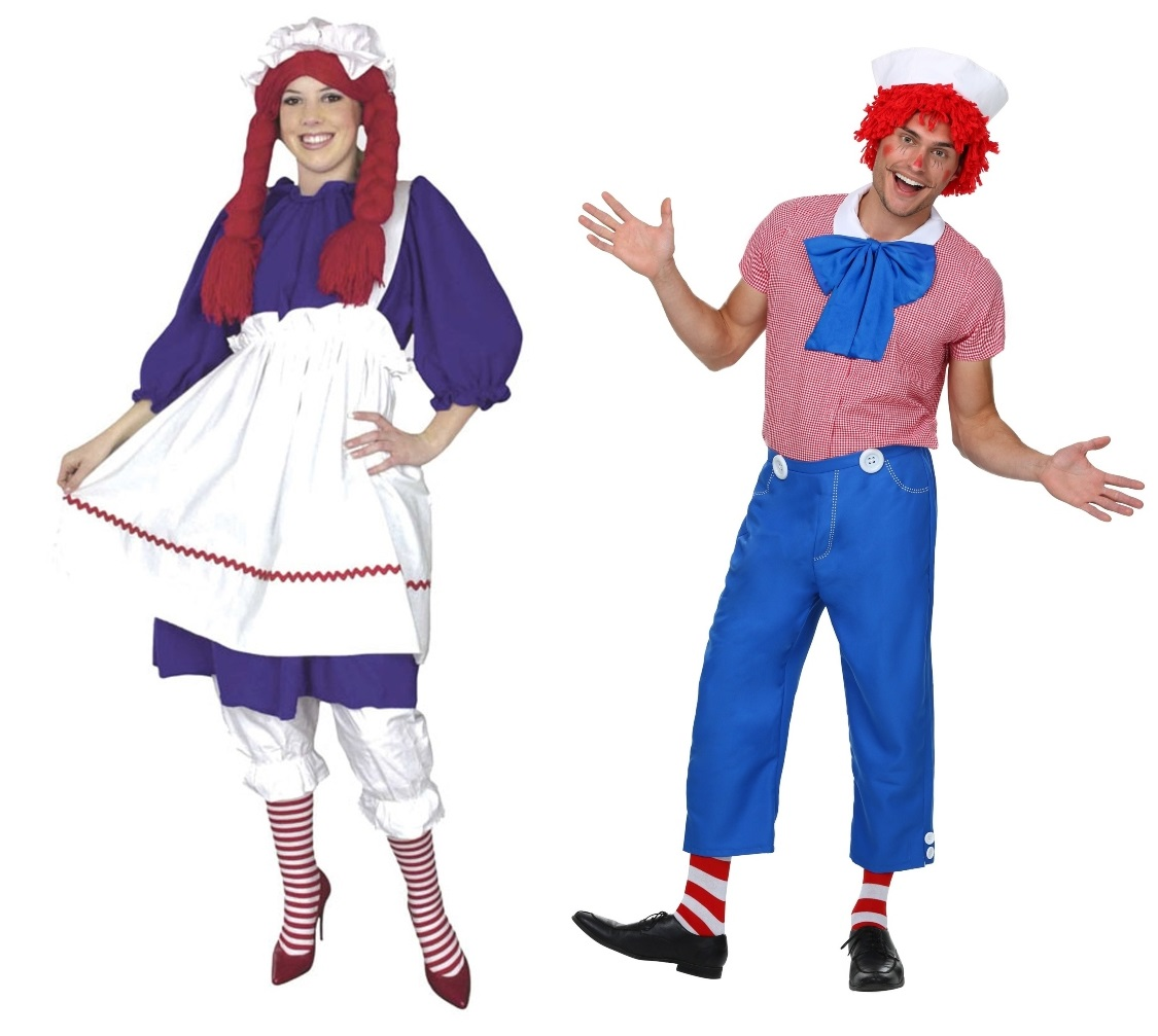 Raggedy Ann and Andy Couples Costumes