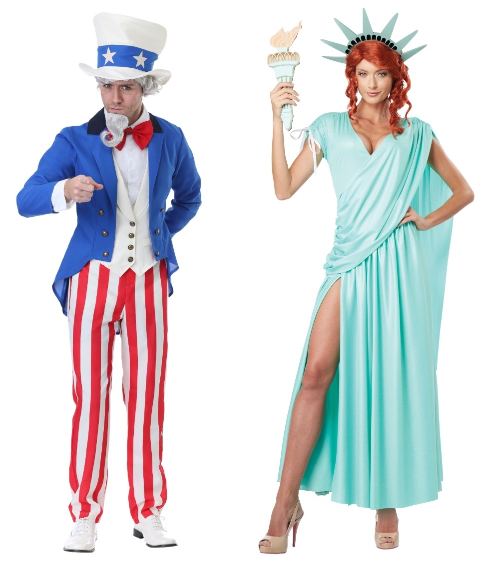 Statue of Liberty and Uncle Sam Couples Costumes