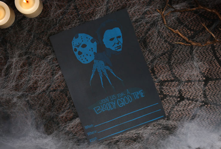 Freddy Jason Michael Printable Halloween Party Invitations