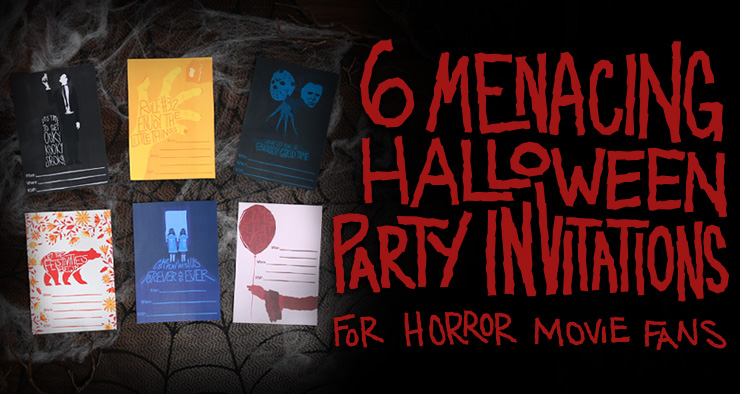 Horror Printable Halloween Party Invites Header
