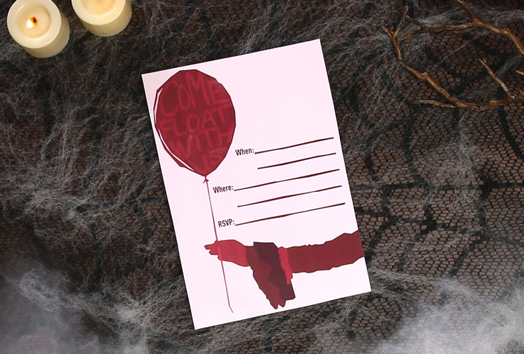 IT: Chapter Two Printable Halloween Party Invitations