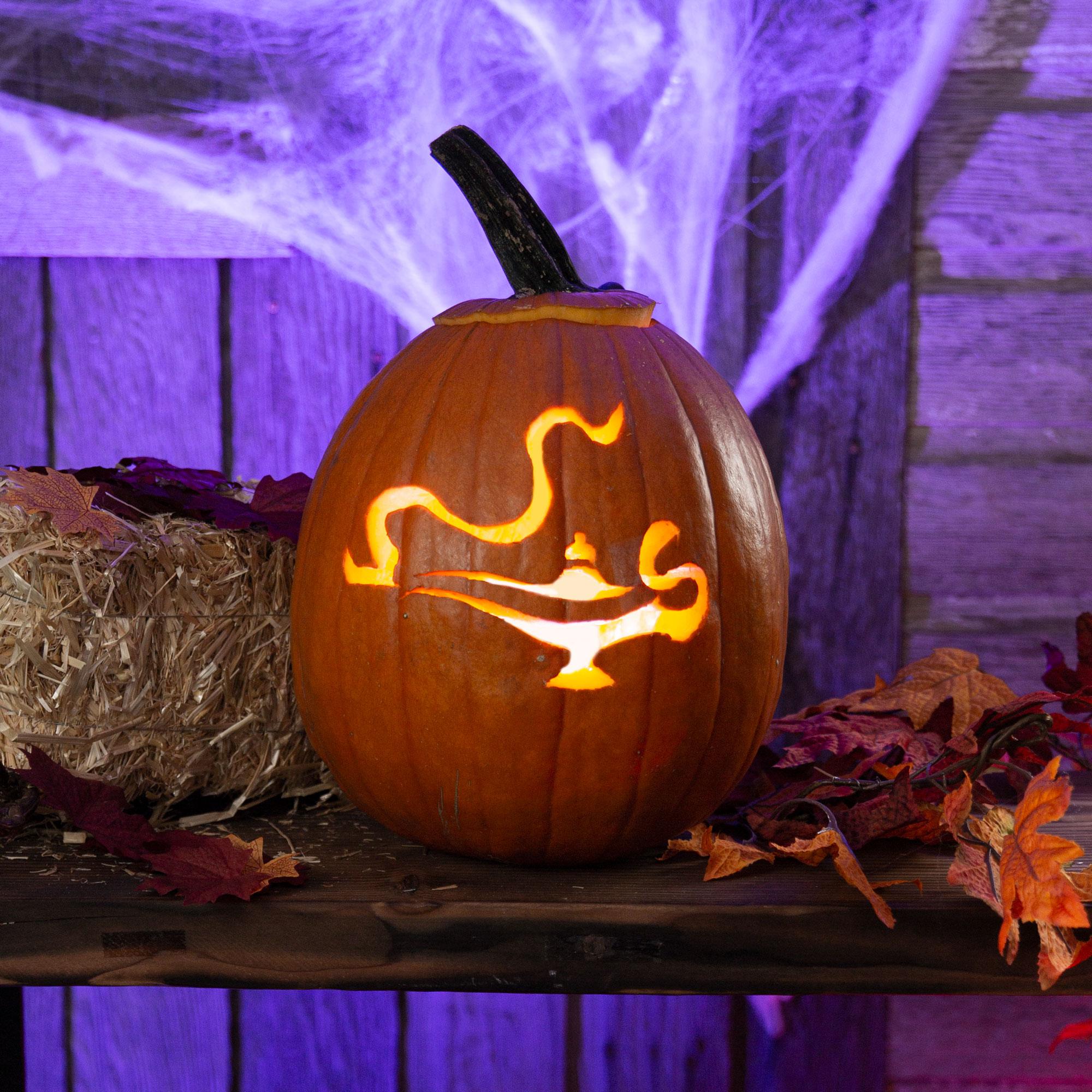 Aladdin's Lamp Pumpkin Stencil