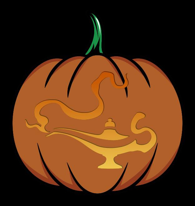 Aladdin's Lam Pumpkin Stencil Mockup