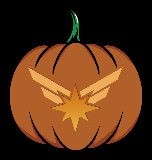 Captain Marvel Logo Pumpkin Design Mockup