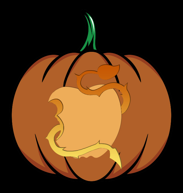 Disney's Descendants Pumpkin Design Mockup