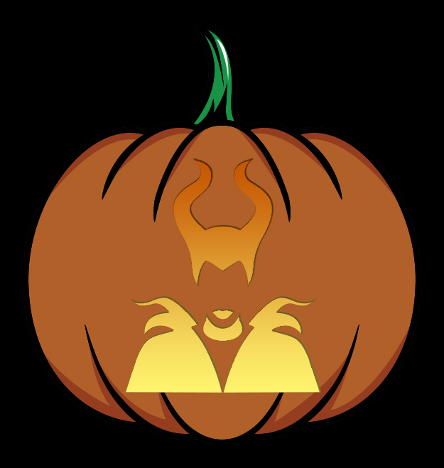 Maleficent Pumpkin Stencil Mockup