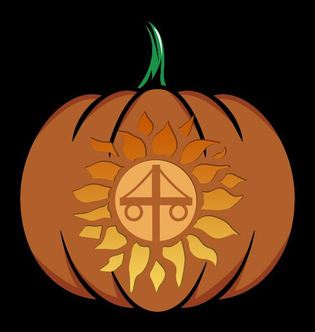 Midsommar Pumpkin Carving Stencil Mockup