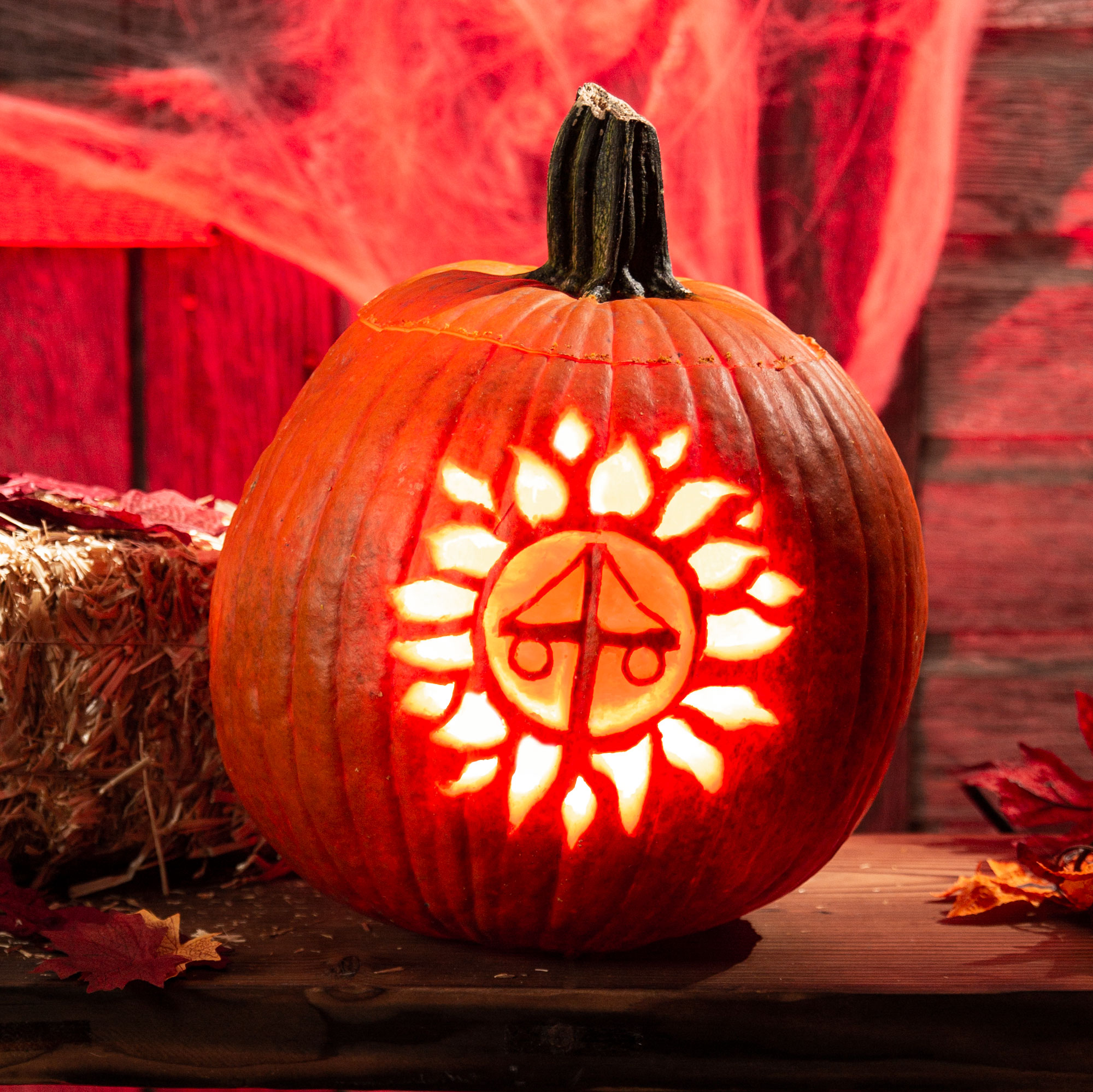 Midsommar Pumpkin Carving Stencil