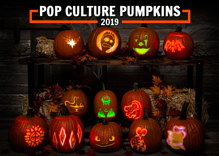 Pop Culture Pumpkin Carving Stencils that Scream 2019