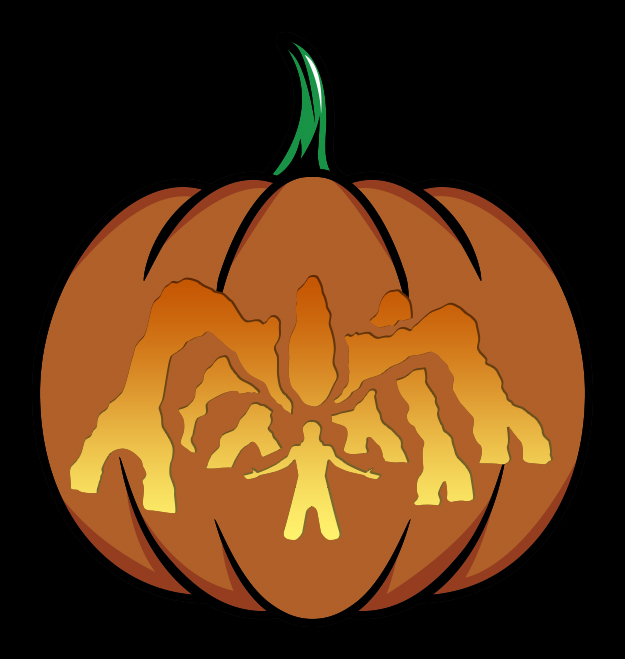Stranger Things Mind Flayer Pumpkin Stencil Mockup