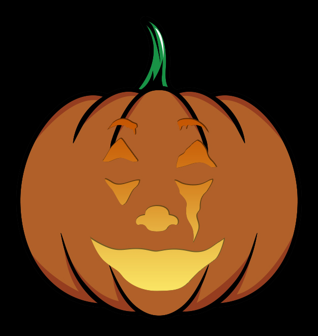 The Joker Pumpkin Carving Stencil Mockup