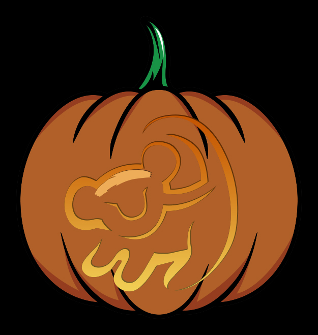 The Lion King Pumpkin Design Mockup