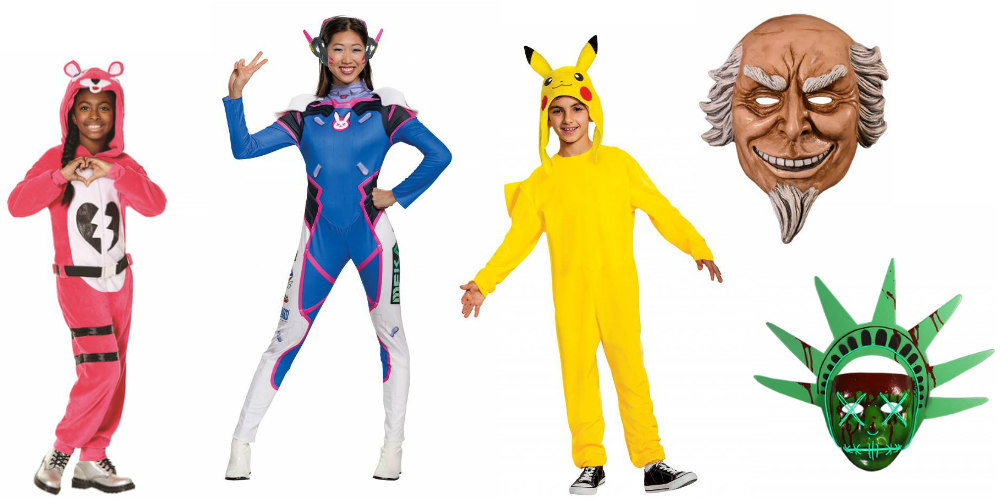 Movie and Video Game Halloween Costumes: Fortnite, Overwatch, Pokémon, and The Purge