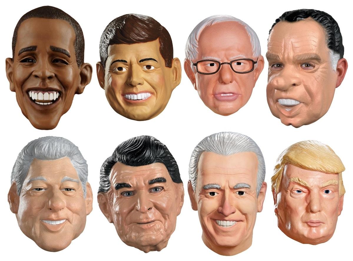 President Masks and Costumes: United States' President Masks