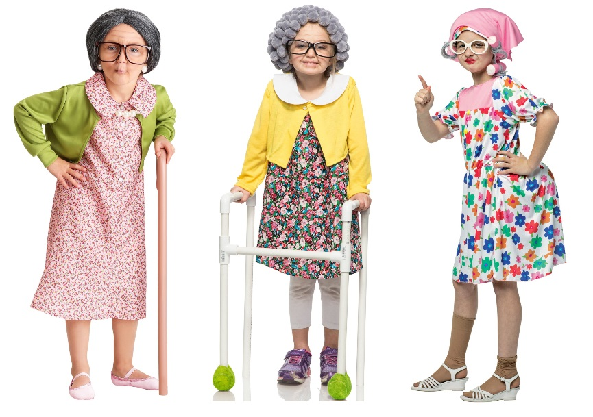 100-Year-Old-Lady Costumes for Girls