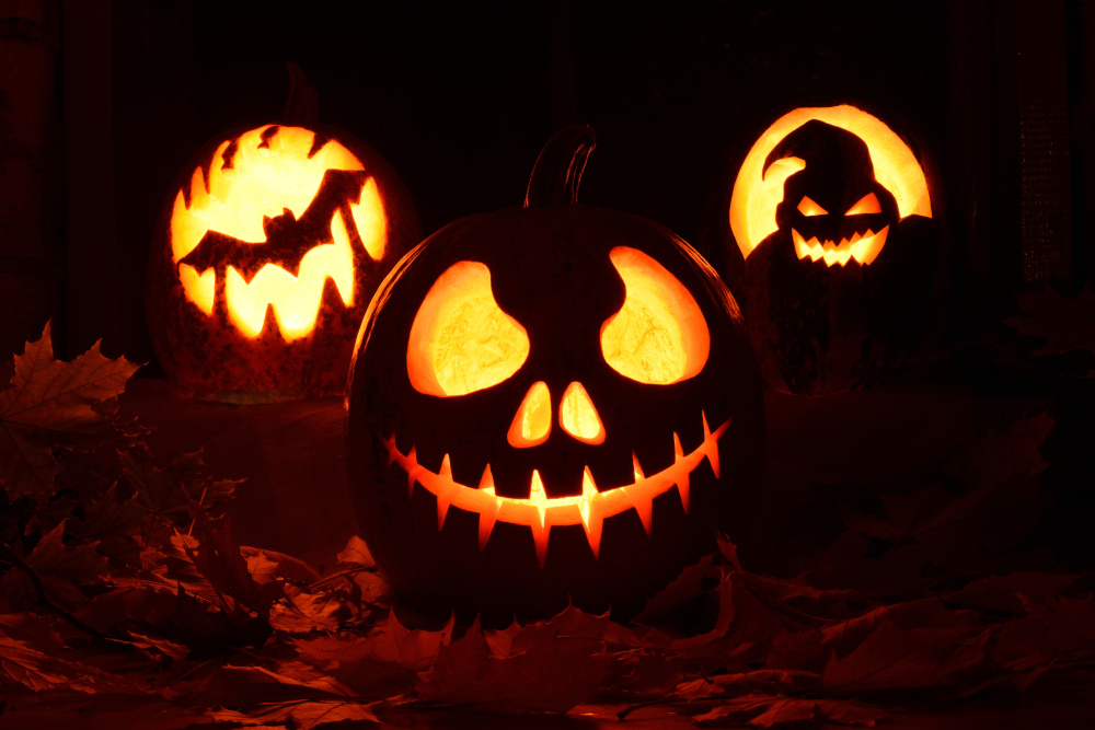 Carved Jack-O-Lantern Faces