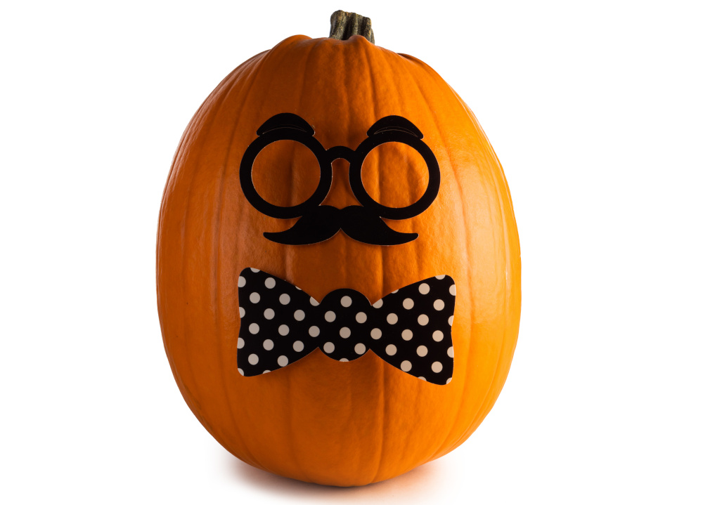 Mustache Pumpkin Decoration
