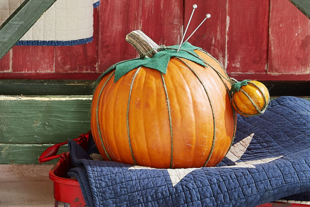 Pin Cushion Pumpkin