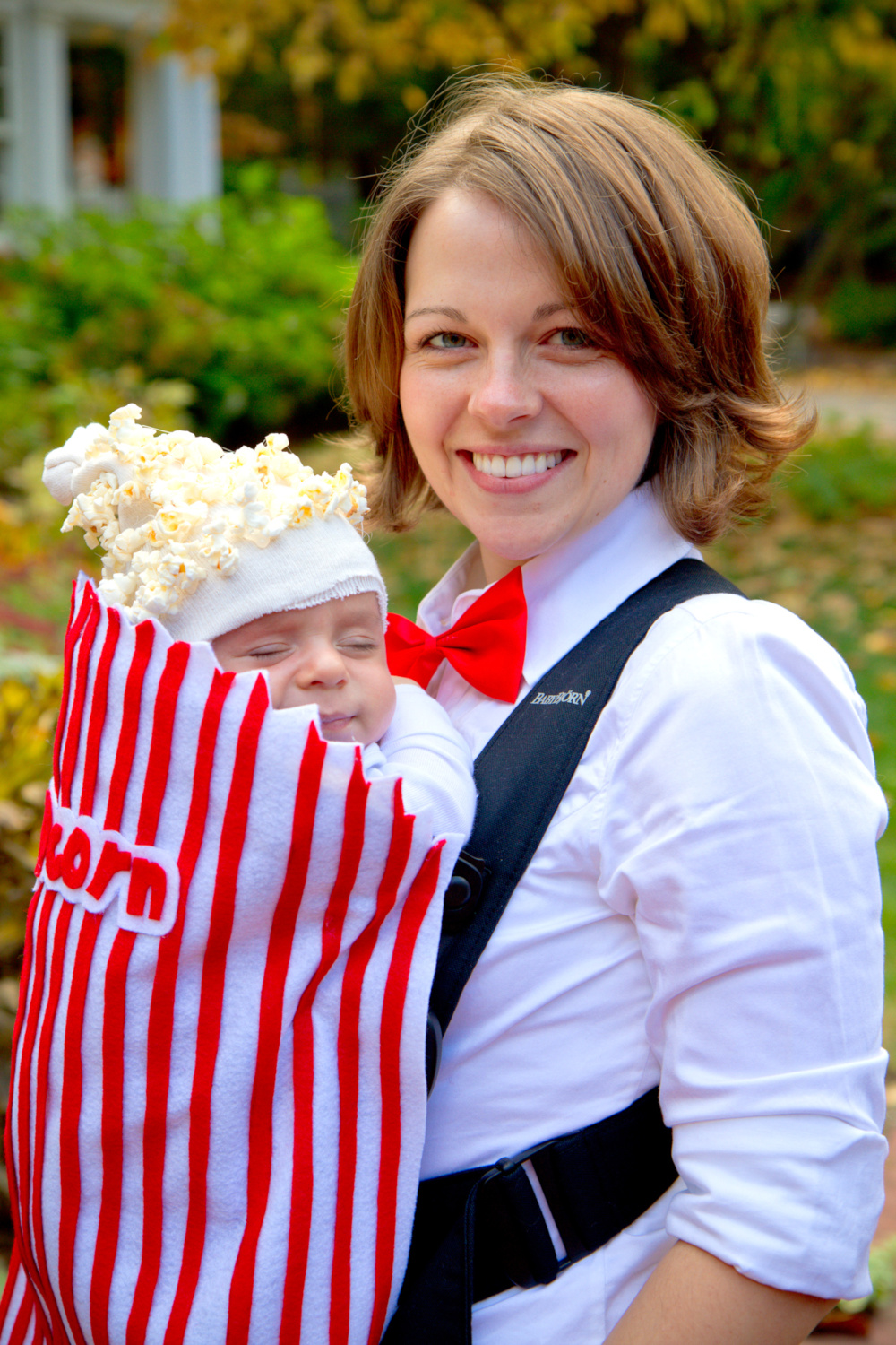 Baby Popcorn and Theater Attendant Costume DIY