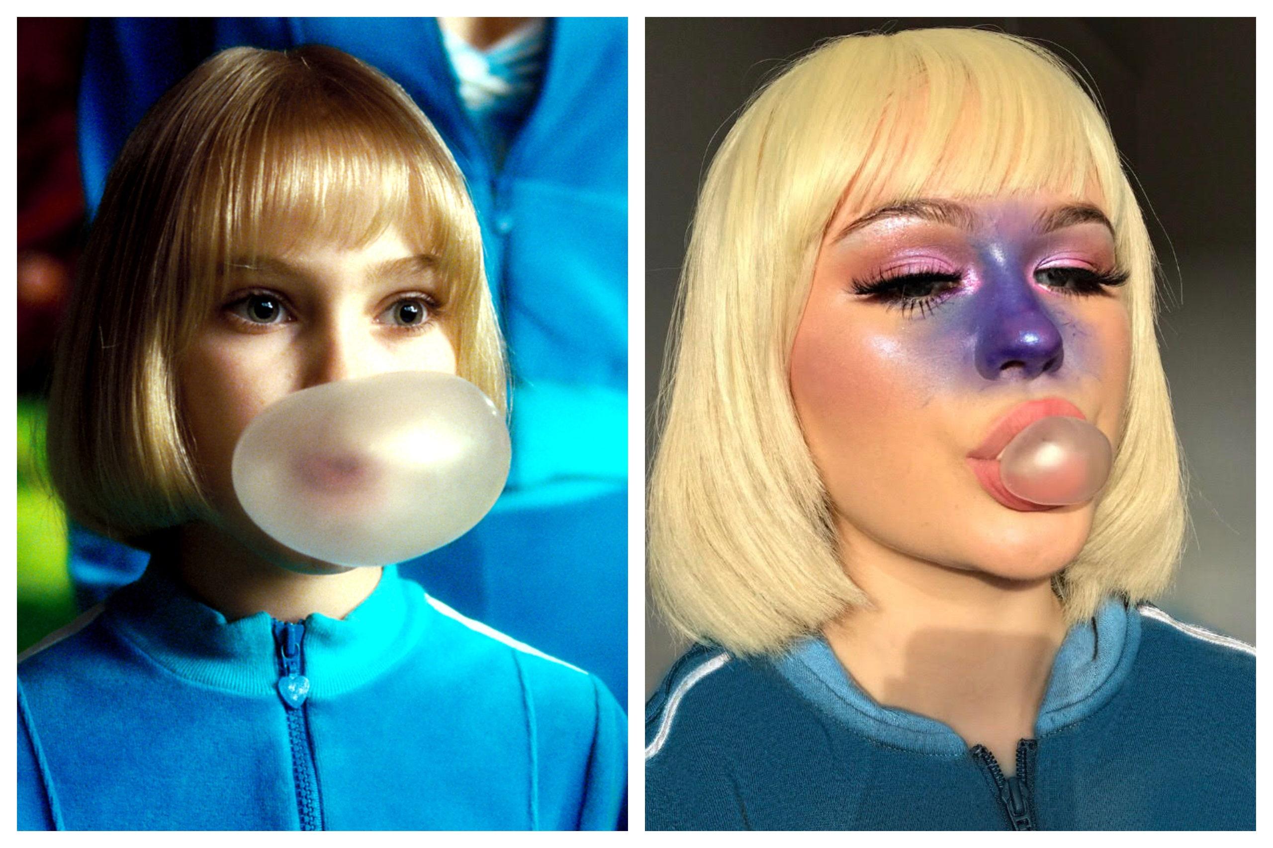 Violet Costume Makeup DIY