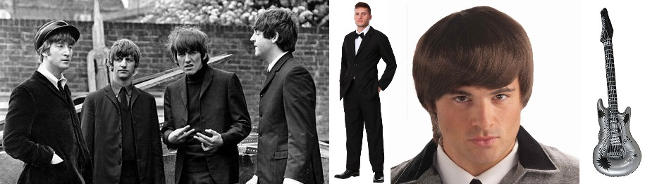 Black Suit Beatles Costumes