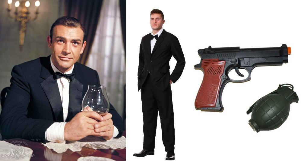 Black Suit James Bond Costume