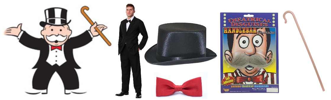 Black Suit Mr. Monopoly Costume