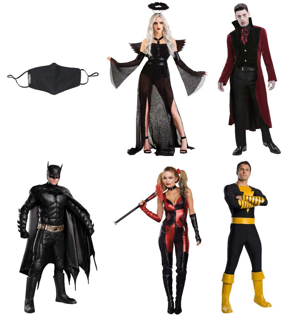 Black Masks and Costumes