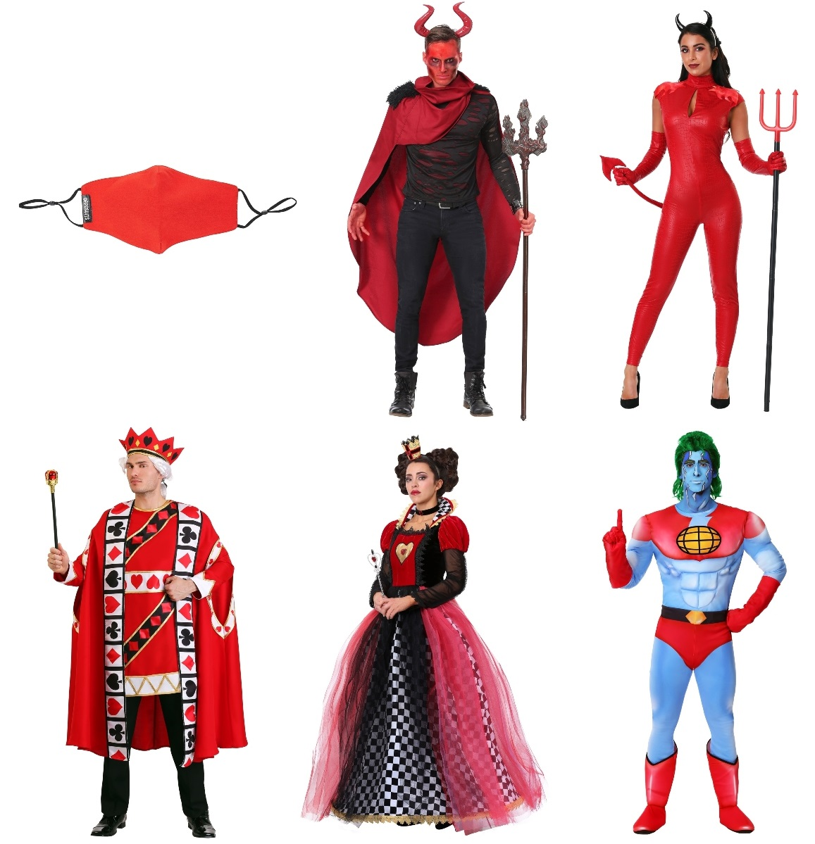 Red Masks and Costumes
