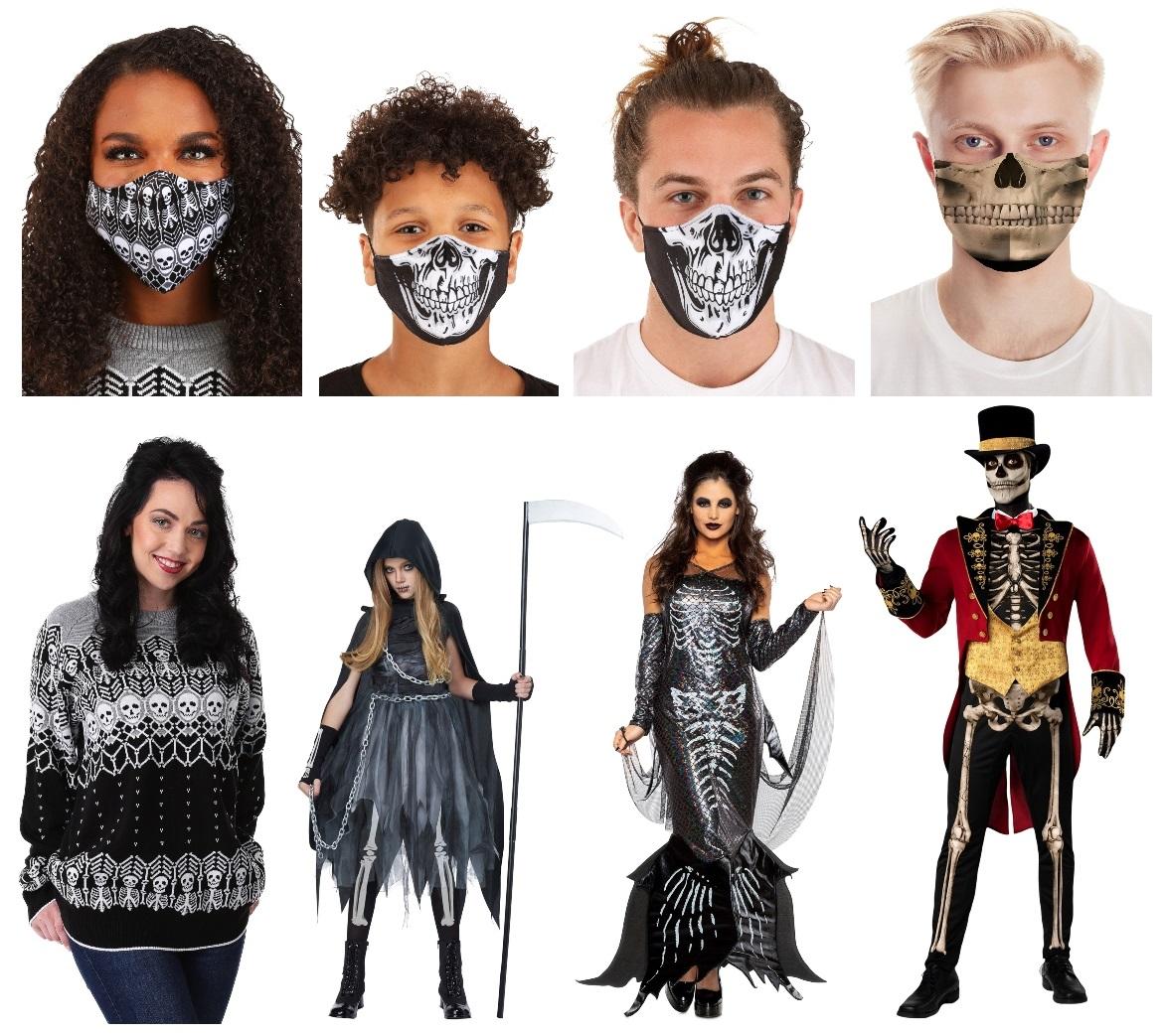 Skeleton Masks and Costumes