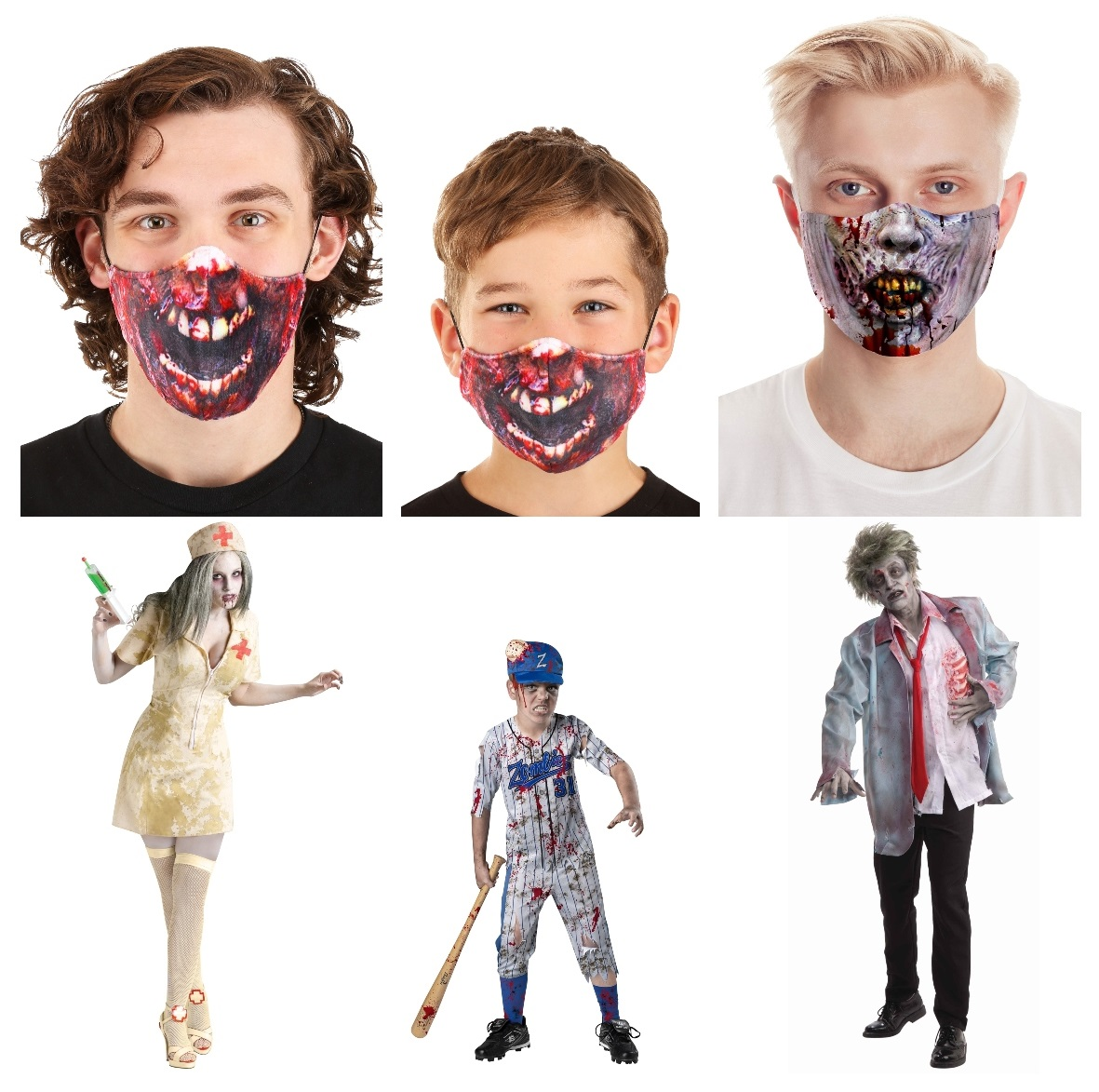 Zombie Masks and Costumes