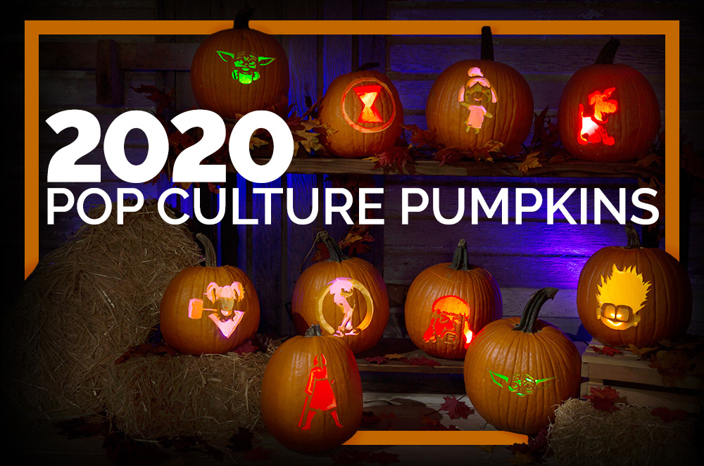 These Pop Culture Halloween Pumpkin Stencils are Totally 2020
