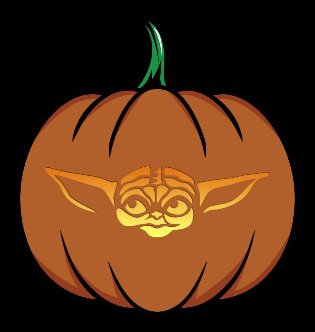 Baby Yoda Pumpkin Design